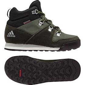 adidas TERREX SnowPitch Lapset kengät , musta/oliivi